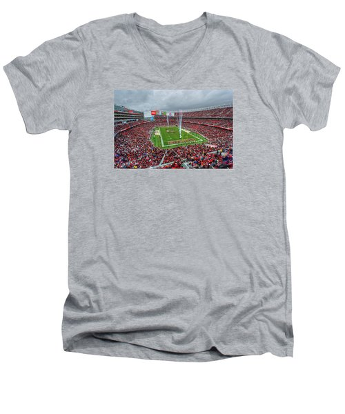 San Francisco 49ers Levi's Stadium Men's V-Neck T-Shirt