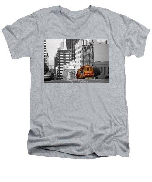 San Francisco Cable Car - Highlight Photo Men's V-Neck T-Shirt