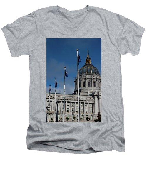 San Francisco City Hall Men's V-Neck T-Shirt