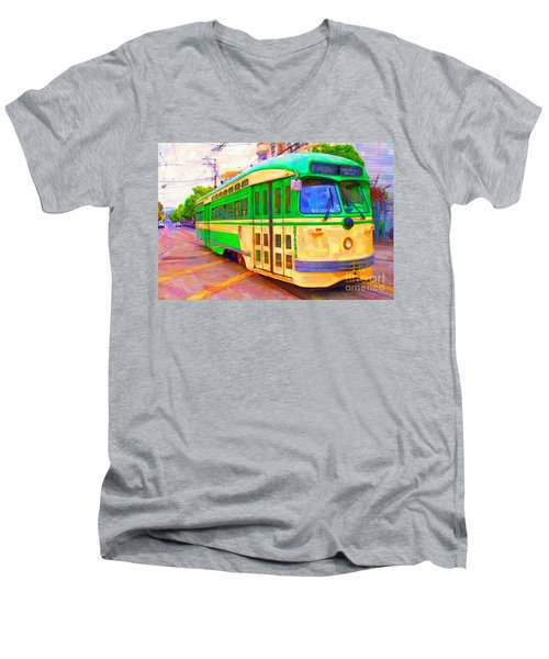 San Francisco F-line Trolley Men's V-Neck T-Shirt