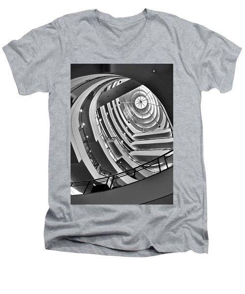 San Francisco - Nordstrom Department Store Architecture Men's V-Neck T-Shirt