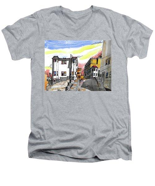 San Francisco Side Street Men's V-Neck T-Shirt