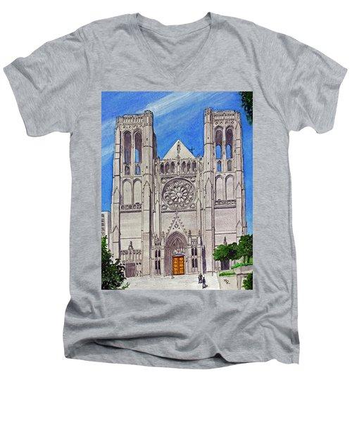 San Francisco's Grace Cathedral Men's V-Neck T-Shirt