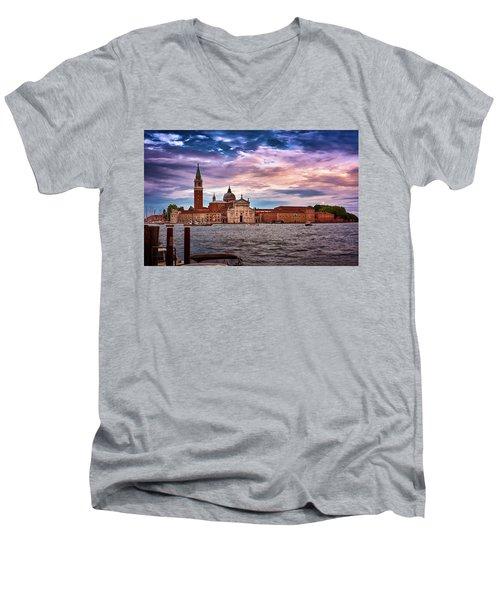 San Giorgio Di Maggiore Church In Venice, Italy Men's V-Neck T-Shirt
