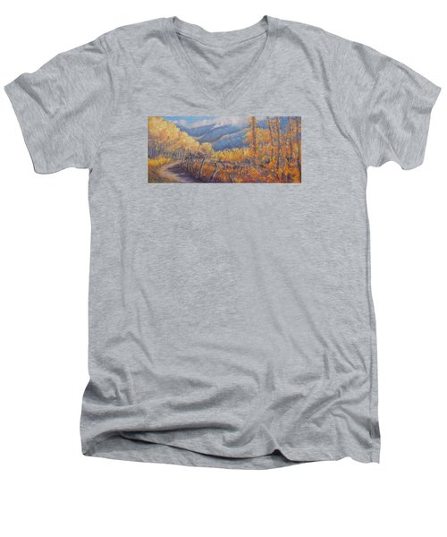 San Juan Mountain Gold Men's V-Neck T-Shirt