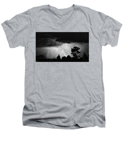 Men's V-Neck T-Shirt featuring the photograph San Juan Strike by Kevin Munro
