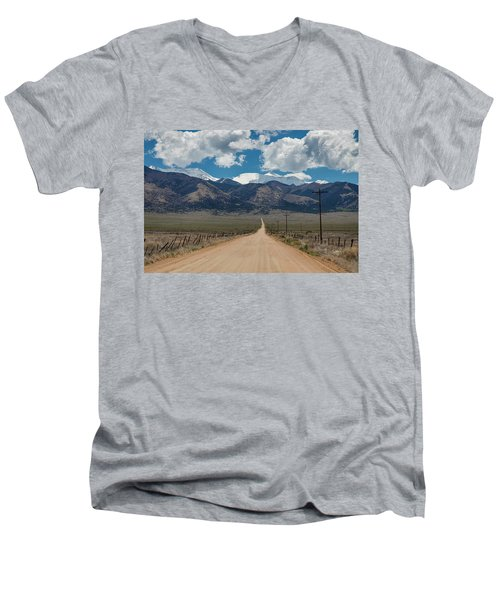 San Luis Valley Back Road Cruising Men's V-Neck T-Shirt by James BO Insogna