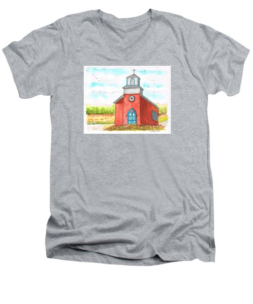 San Rafael Church In La Cueva, New Mexico Men's V-Neck T-Shirt
