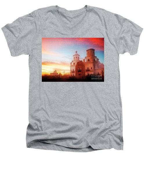 San Xavier Del Bac Men's V-Neck T-Shirt