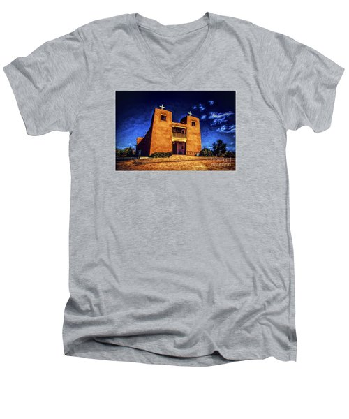 Sanctuary  ... Men's V-Neck T-Shirt by Chuck Caramella