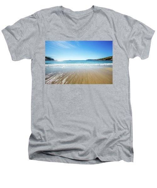 Sand Beach Men's V-Neck T-Shirt