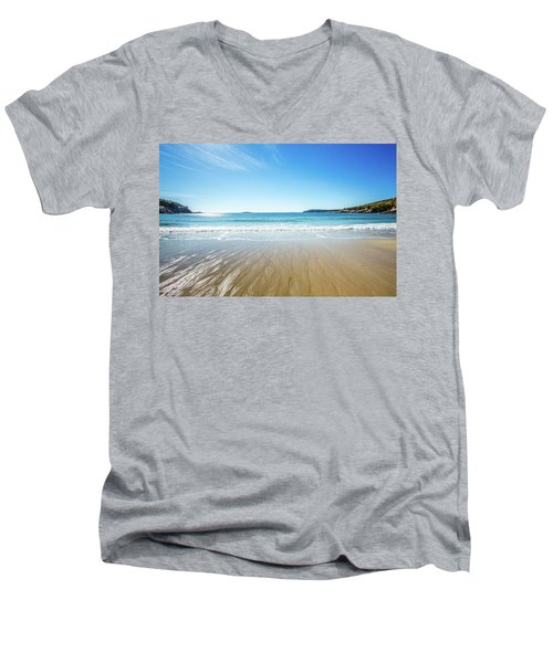Sand Beach Men's V-Neck T-Shirt