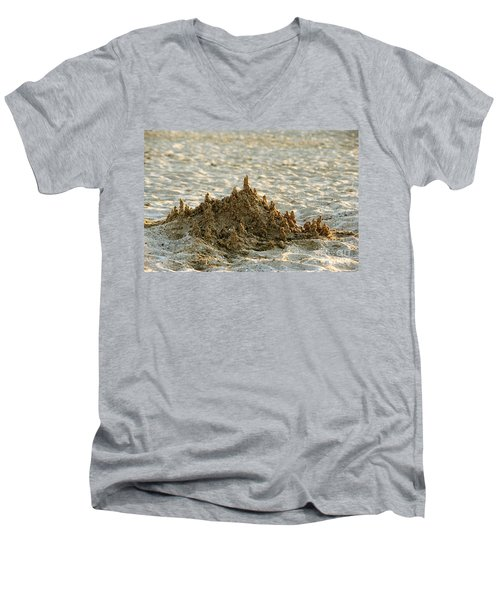 Sand Castle Men's V-Neck T-Shirt