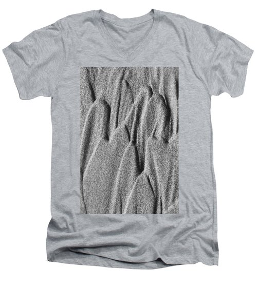 Men's V-Neck T-Shirt featuring the photograph Sand Castle by Yulia Kazansky