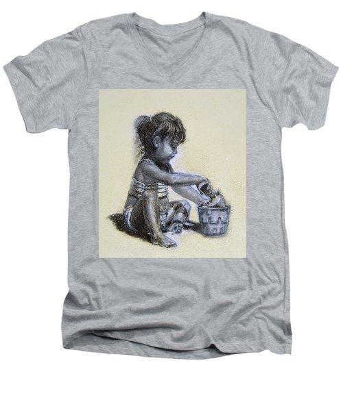 Sand Castles Men's V-Neck T-Shirt
