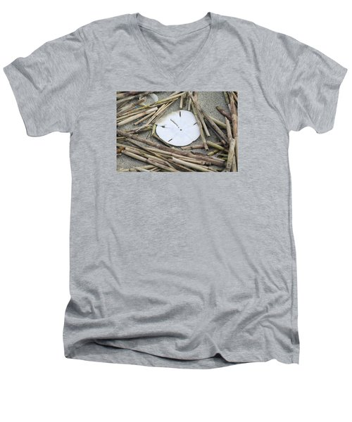 Sand Dollar Salad Men's V-Neck T-Shirt by Tammy Schneider