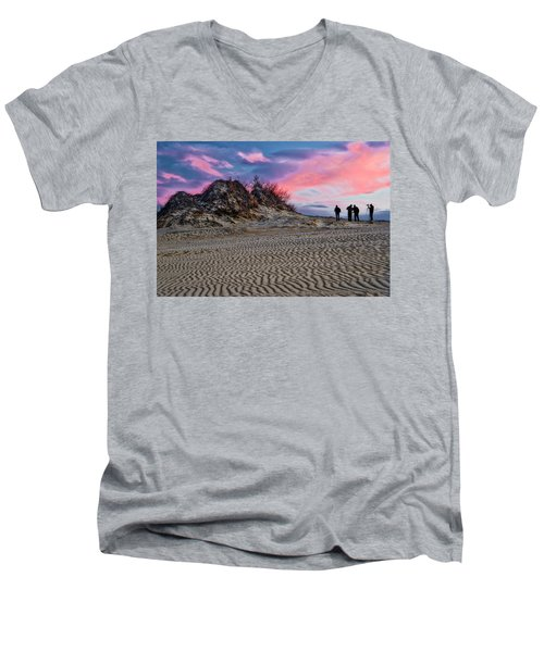 Sand Dunes Of Kitty Hawk Men's V-Neck T-Shirt