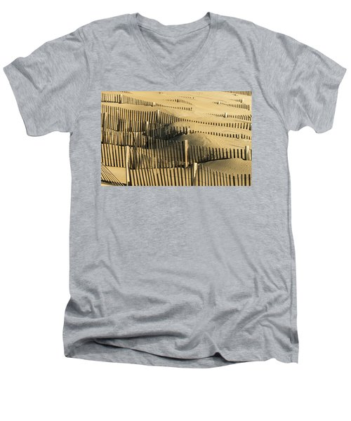 Sand Dunes Of The Outer Banks Men's V-Neck T-Shirt