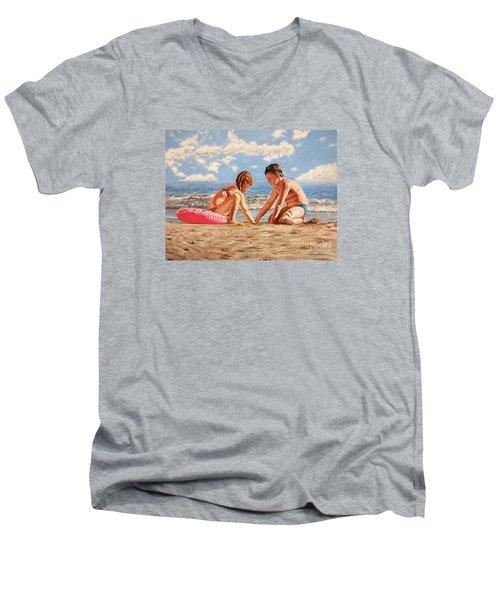 Sand Grains - Granos De Arena Men's V-Neck T-Shirt