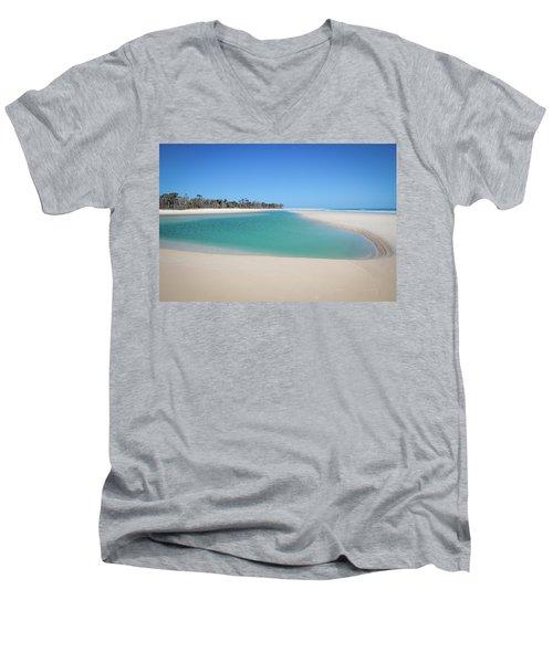 Sand Island Paradise Men's V-Neck T-Shirt