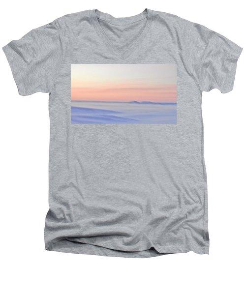 Sand Painting Men's V-Neck T-Shirt