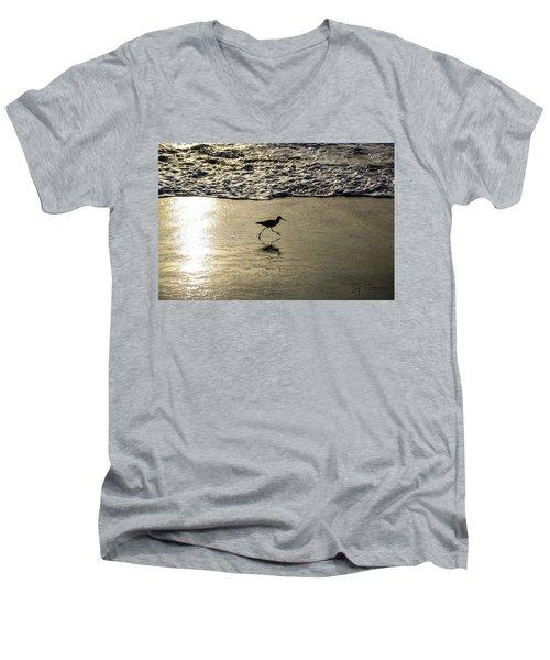 Sand Piper Dash Men's V-Neck T-Shirt