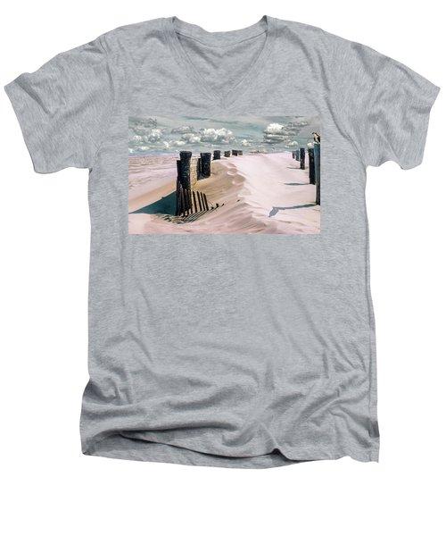 Sand Men's V-Neck T-Shirt