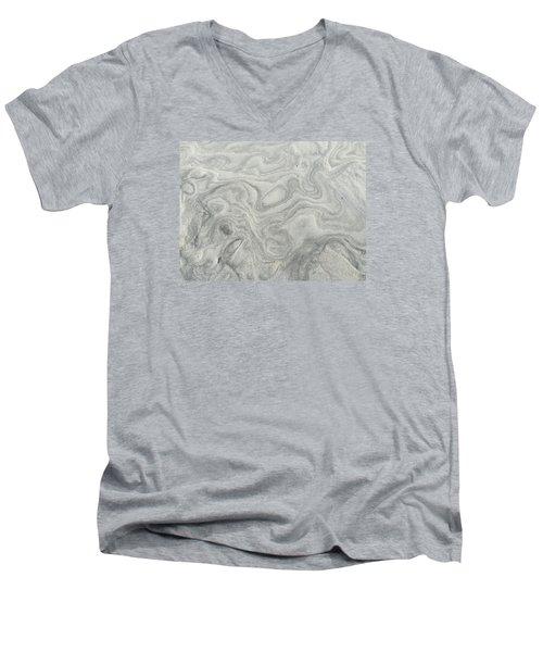 Sand Sculpture Men's V-Neck T-Shirt by Christine Lathrop
