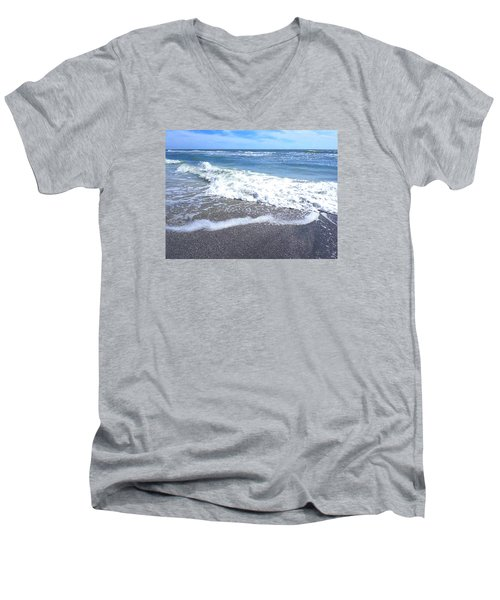 Sand, Sea, Sun No. 1 Men's V-Neck T-Shirt by Ginny Schmidt