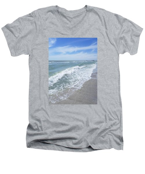 Sand, Sea, Sun, No.2 Men's V-Neck T-Shirt by Ginny Schmidt