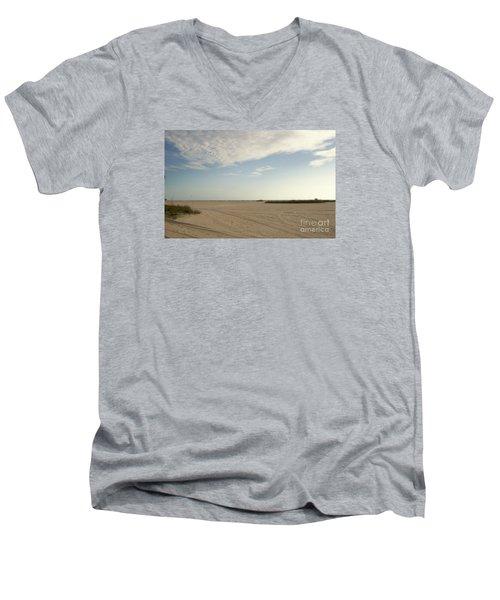 Sand Storm At St. Pete Beach Men's V-Neck T-Shirt by Gail Kent