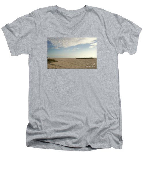 Sand Storm At St. Pete Beach Men's V-Neck T-Shirt