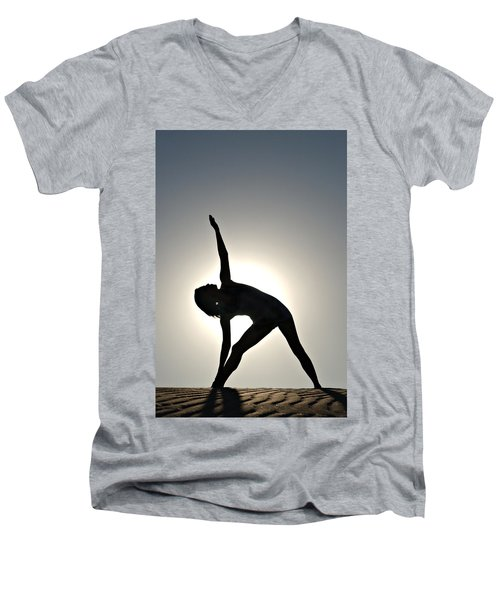Sand Yoga Men's V-Neck T-Shirt