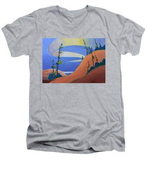 Sandbanks Men's V-Neck T-Shirt