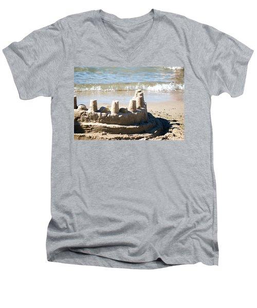 Sandcastle  Men's V-Neck T-Shirt