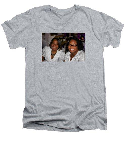 Sanderson - 4523 Men's V-Neck T-Shirt by Joe Finney
