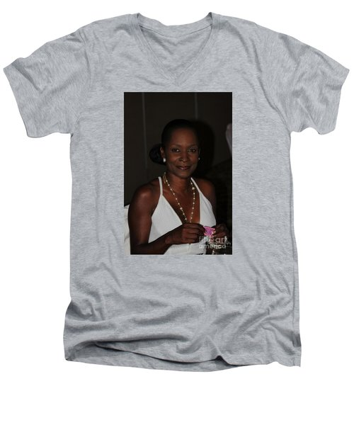 Sanderson - 4524 Men's V-Neck T-Shirt by Joe Finney
