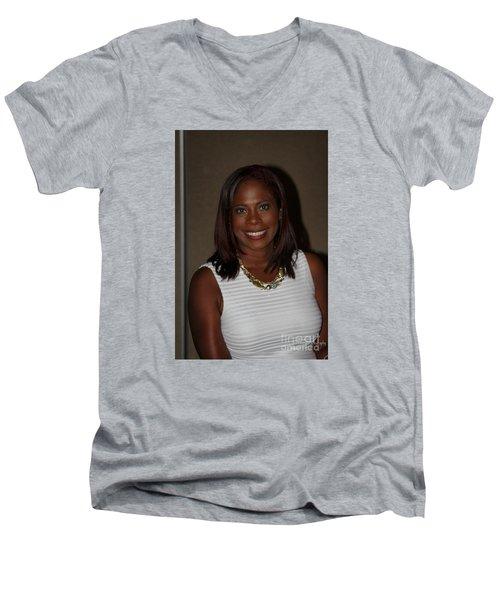 Sanderson - 4525 Men's V-Neck T-Shirt by Joe Finney