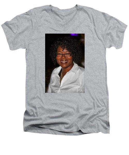 Sanderson - 4530 Men's V-Neck T-Shirt by Joe Finney