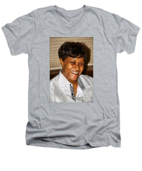 Sanderson - 4533.2 Men's V-Neck T-Shirt by Joe Finney