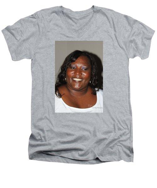 Sanderson - 4540 Men's V-Neck T-Shirt by Joe Finney