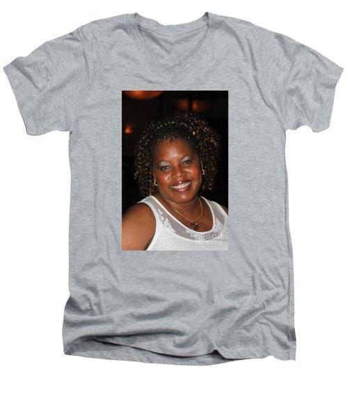 Sanderson - 4552 Men's V-Neck T-Shirt by Joe Finney