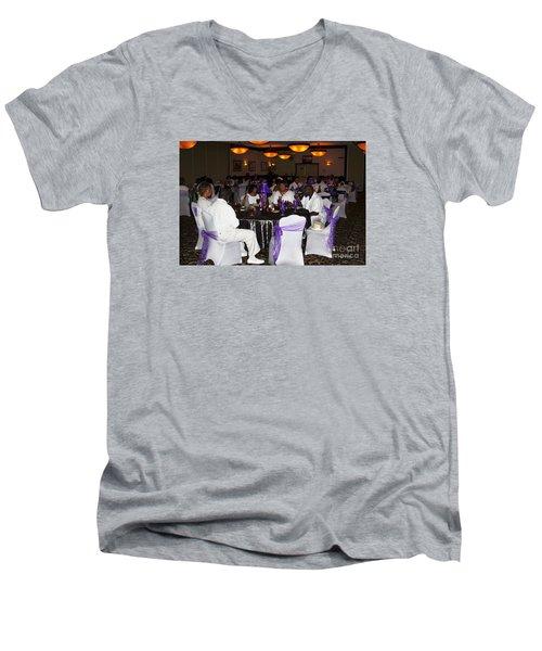 Sanderson - 4553 Men's V-Neck T-Shirt by Joe Finney