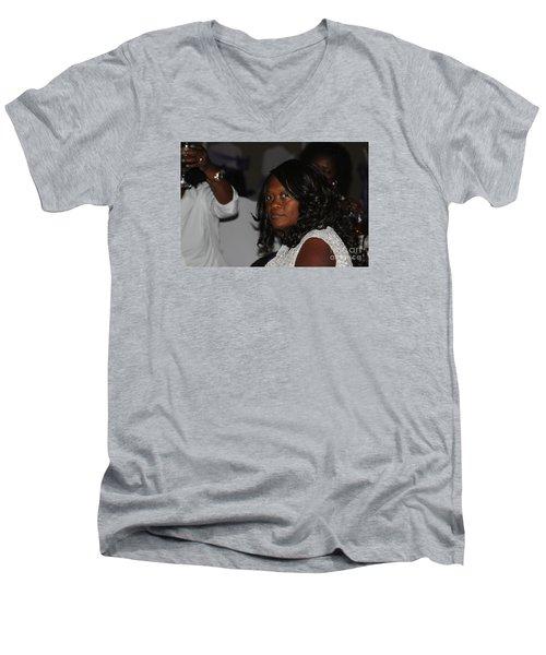 Sanderson - 4678 Men's V-Neck T-Shirt by Joe Finney