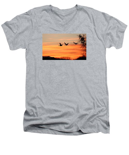 Sandhill Sunrise Men's V-Neck T-Shirt
