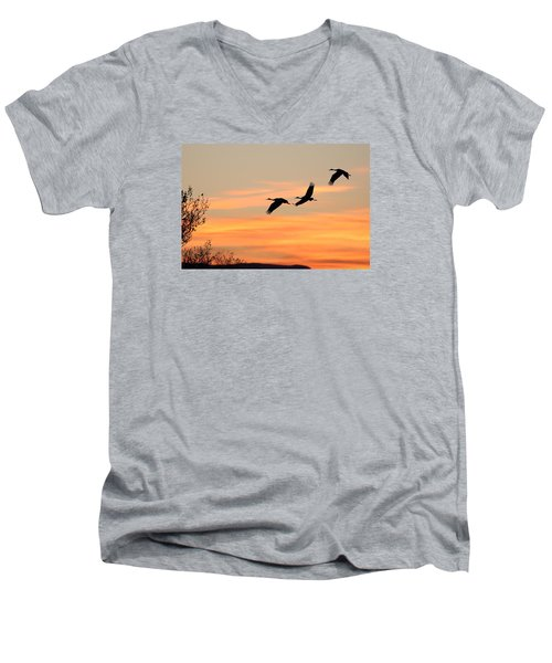 Sandhill Sunrise Three Men's V-Neck T-Shirt