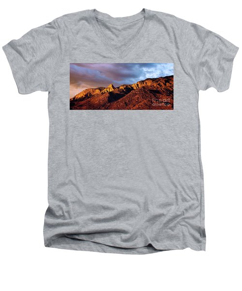 Men's V-Neck T-Shirt featuring the photograph Sandia Beauty by Gina Savage