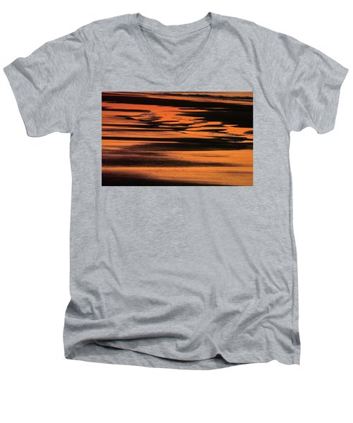 Sandy Reflection Men's V-Neck T-Shirt