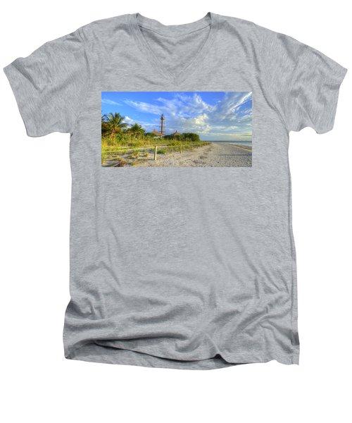 Sanibel Light House Men's V-Neck T-Shirt