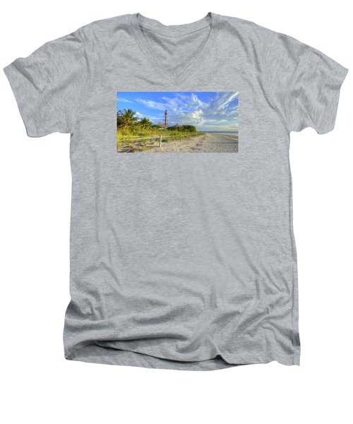 Sanibel Light House Men's V-Neck T-Shirt